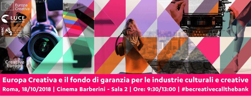 Info Day Europa Creativa sul Fondo di garanzia per le industrie culturali e creative