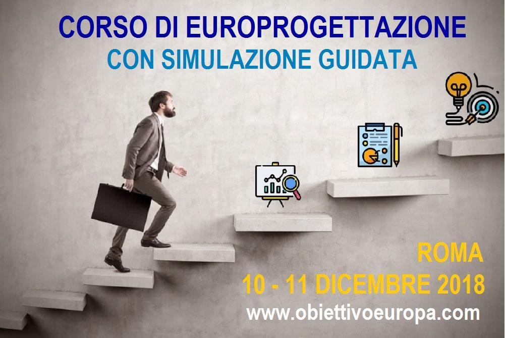Europrogettazione: il nuovo corso pratico che simula la partecipazione ad un bando europeo
