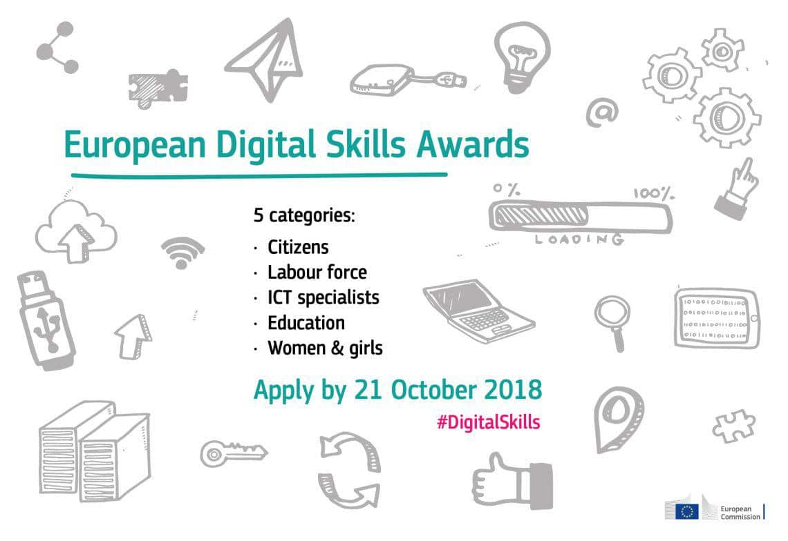 "La Commissione europea ha lanciato il concorso ""European Digital Skills Awards 2018"""